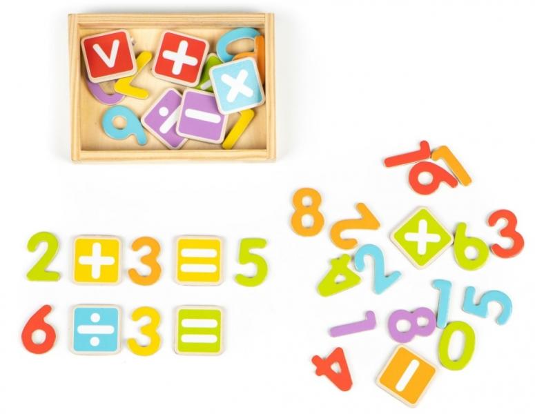 Eco Toys Drevené magnetky - Číslice a Písmená