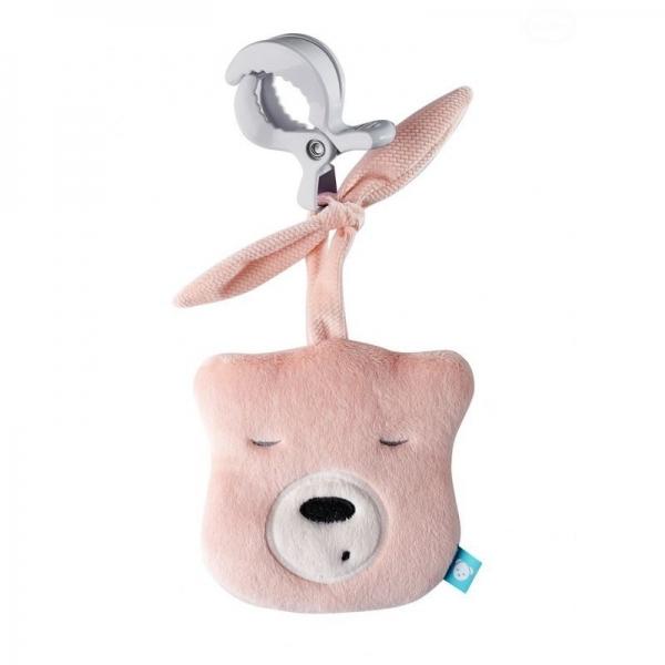 Szumisie Mini šumiace Medvedík - hlava s klipem- sv. ružová