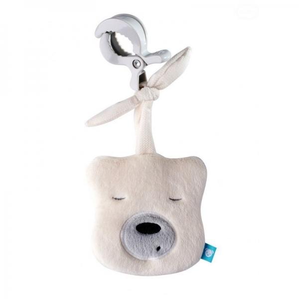 Szumisie Mini šumiace Medvedík - hlava s klipem- smotanová