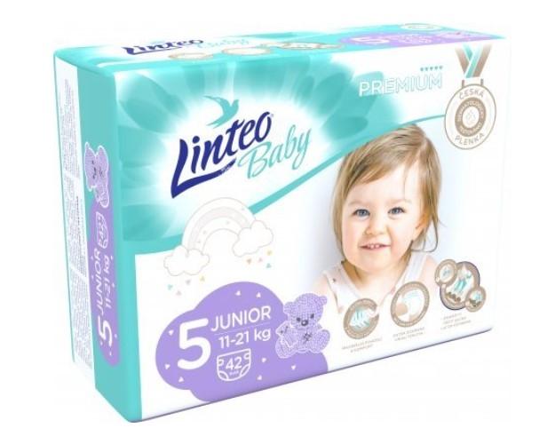 Plienky Linteo Baby 5, 11-21kg JUNIOR - 42 ks
