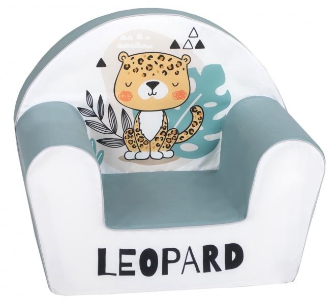 Delsit Detské kresielko, pohovka - Leopard