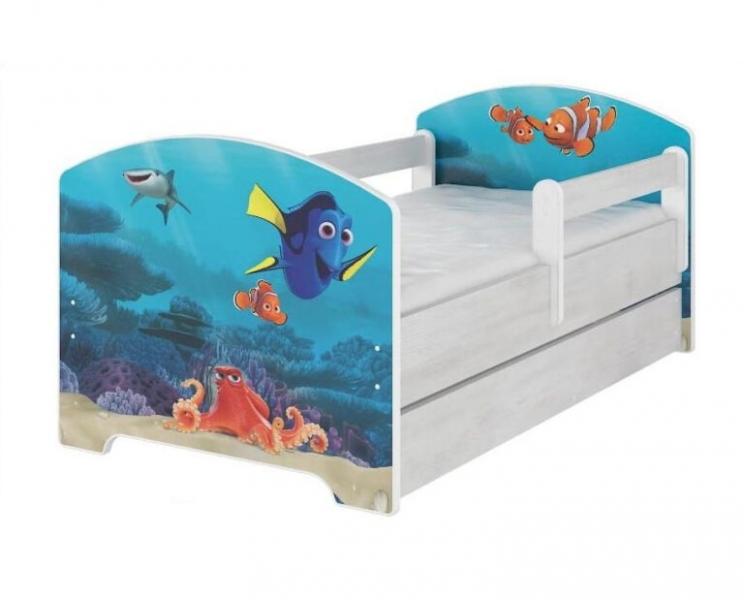 Babyboo Detská posteľ 140 x 70 cm - Dorry so šuflíkom-#Rozměry;140x70