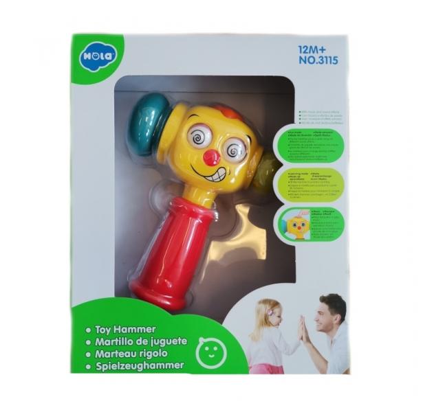 Euro baby Detské interaktívne kladivko