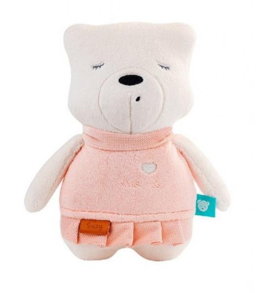 Szumisie šumiace maznáčik Macko Suzy, 25 cm - ružový / béžová