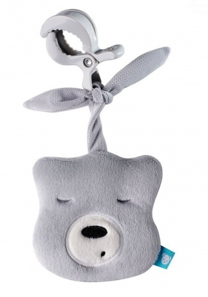Szumisie Mini šumiace Medvedík - hlava s klipem- sivý