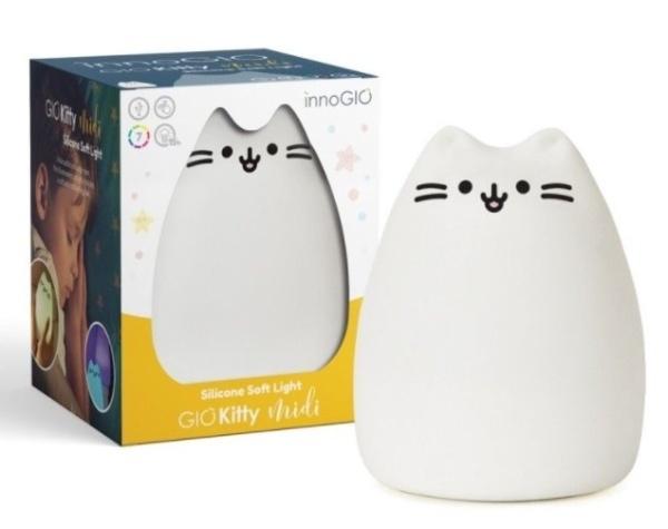 Innogio Prenosná silikónová lampička - Kitty