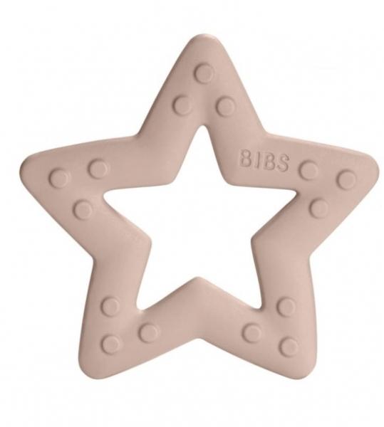 BIBS Baby Bitie Star Blush - Silikónové hryzátko Hviezdička - púdrová