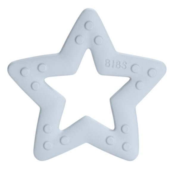 BIBS Baby Bitie Star Blue - Silikónové hryzátko Hviezdička - modrá