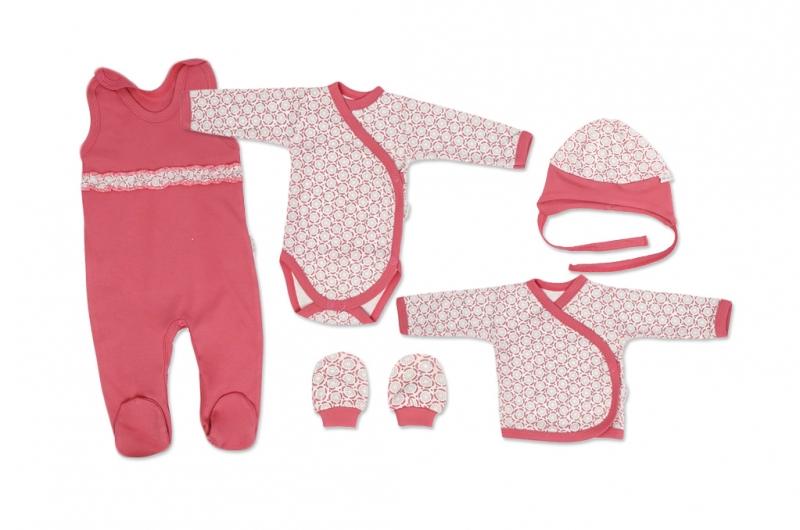 Mamatti Novorodenecká súprava do pôrodnice, biela - Rozeta, veľ. 56-#Velikost koj. oblečení;56 (1-2m)