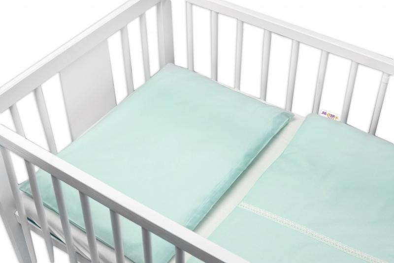 Baby Nellys Luxusní 2 - dielne bavlnené obliečky - Royal Baby, mätová