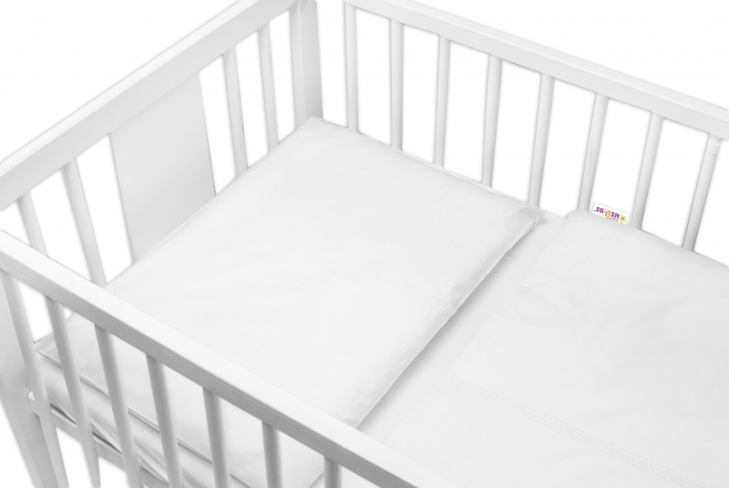 Baby Nellys Luxusní 2 - dielne bavlnené obliečky - Royal Baby, biele