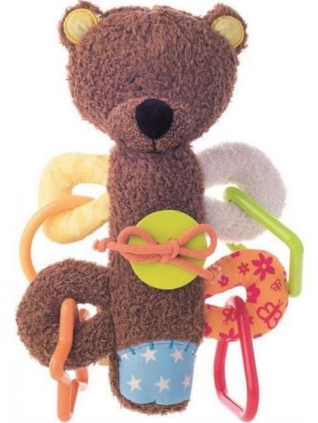 Niny Pískací hračka, hrkálka - Medvedík Matahi, hnedá