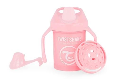 Nekvapkajúci hrnček Twistshake so sitkom, 4m +, 230ml, ružový