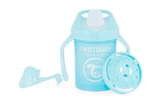 Nekvapkajúci hrnček Twistshake so sitkom, 4m +, 230ml, modrý