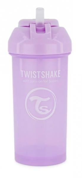 Fľaša so slámkou Twistshake - 6m +, 360 ml, fialová