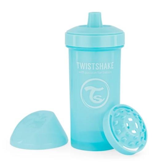 Fľaša pre deti Twistshake so sitkom, 12 m +, 360 ml, modrý