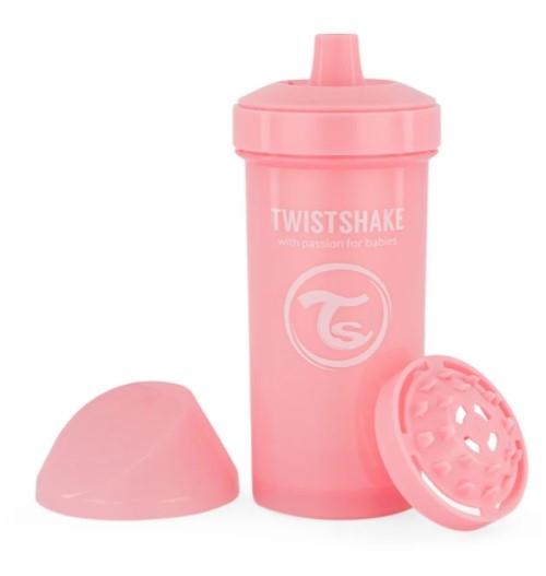 Fľaša pre deti Twistshake so sitkom, 12 m +, 360 ml, ružová