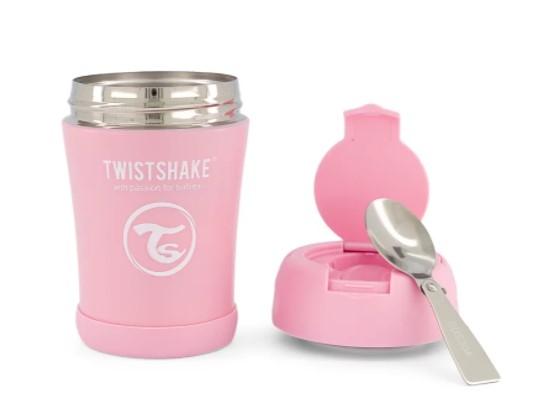 Termoska Twistshake na jedlo, 350 ml, ružová