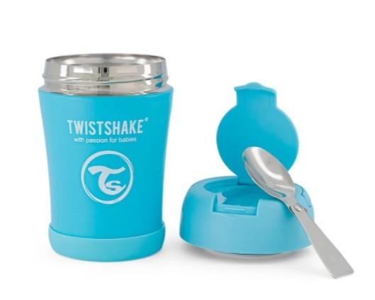 Termoska Twistshake na jedlo, 350 ml, modrá