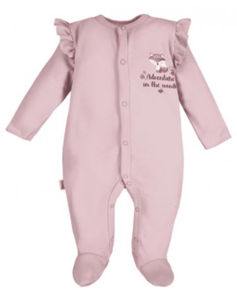 EEVI Dojčenský bavlnený overal Adventure- Liška - púdrový, veľ. 92-#Velikost koj. oblečení;92 (18-24m)