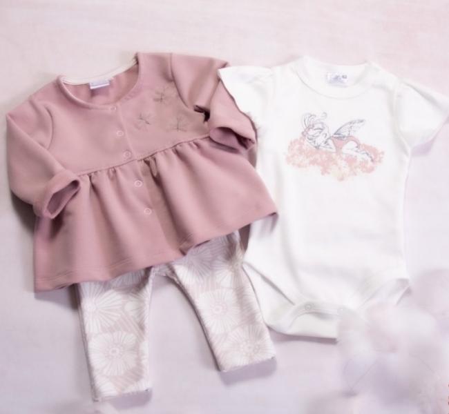 K-Baby 3 dielna sada - 1x body krátký rukáv, tunika a legínky - Elf, veľ. 80-#Velikost koj. oblečení;80 (9-12m)