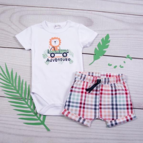 K-Baby 2 dielna detská súprava, body s kr. rukávom a kraťasky Adventure Lvíček, veľ. 86-#Velikost koj. oblečení;86 (12-18m)