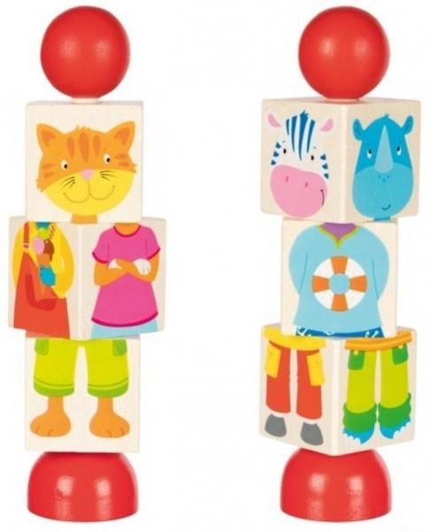 Goki Drevené otáčacie puzzle - zvieratká