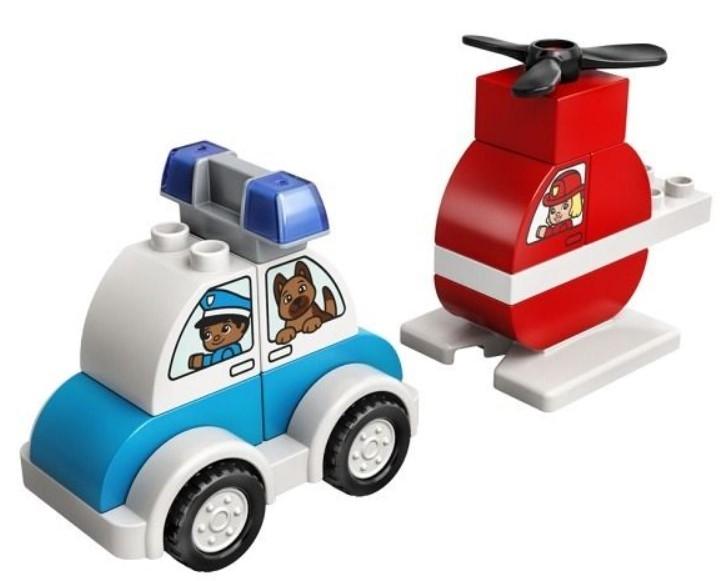 Lego Duplo - Hasičský vrtuľník a policajné autíčko