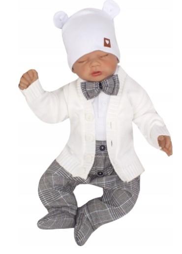 Z & Z 6-dielna sada ELEGANT Boy, sivá, biela, veľ. 80-#Velikost koj. oblečení;80 (9-12m)