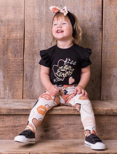 G-baby Dojčenské body s volánikom Kiss - čierne-#Velikost koj. oblečení;68 (4-6m)