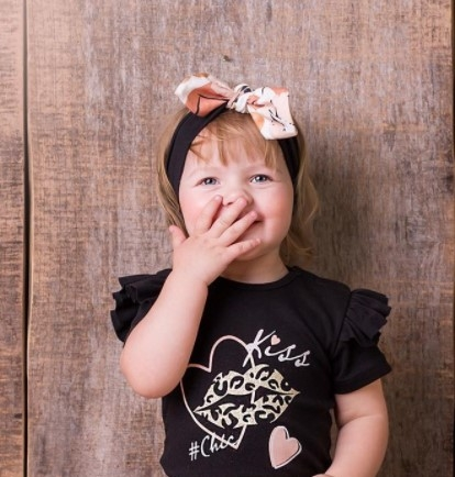 G-Baby Čelenka s mašľou Kiss - smotanová-#Velikost koj. oblečení;0-1rok