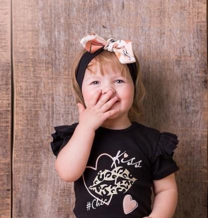 G-Baby Čelenka s mašľou Kiss - smotanová,  1-2 roky-#Velikost koj. oblečení;1-2 roky