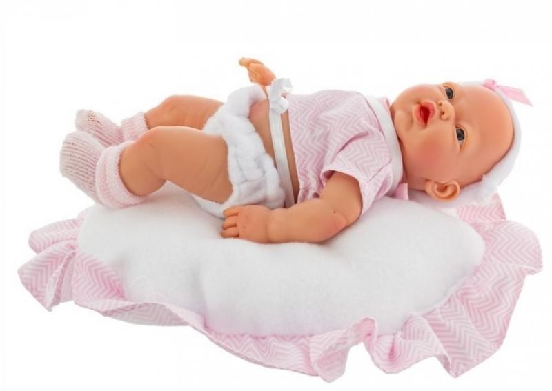 Nines Luxusná bábika Golosinas na vankúši s vôňou vanilky - 26 cm