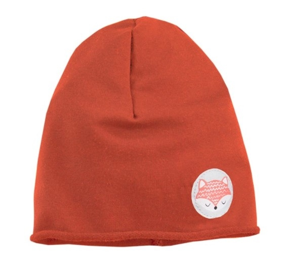 EEVI Detská jarná / jesenná bavlnená čiapka - Adventure Liška - tehlová, 40 - 42 cm-#Velikost koj. oblečení;1-2 roky
