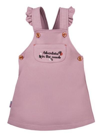 EEVI Dievčenské šaty s laclom Adventure - fialové, veľ.74-#Velikost koj. oblečení;74 (6-9m)