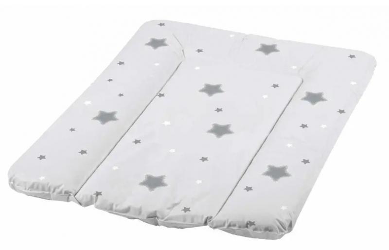 Baby Nellys Prebaľovacia podložka Baby Star, 70x50cm - mäkká, biela