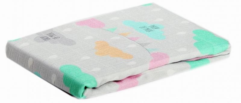 Bambusová plienka Baby Nellys ® - dievčenský vzor, 75 x75 cm