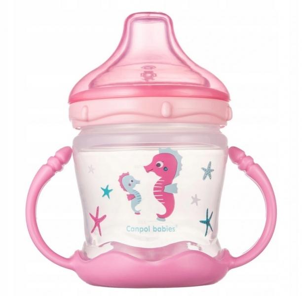 Canpol babies Nevylévací hrnček Sweet Fun - Love sea- ružový