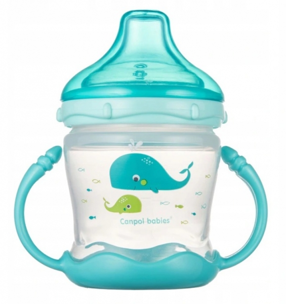 Canpol babies Nevylévací hrnček Sweet Fun - Love sea- modrý