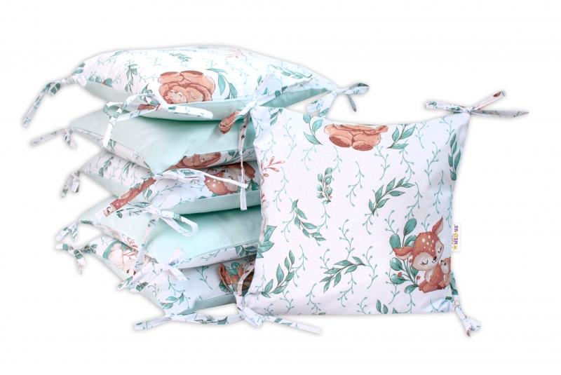 Vankúšikový mantinel Baby Nellys, LULU natural, bavlna - mátová
