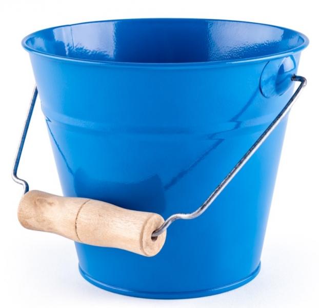 Woody Plechové vedierko na piesok - modré