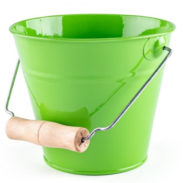 Woody Plechové vedierko na piesok - zelené