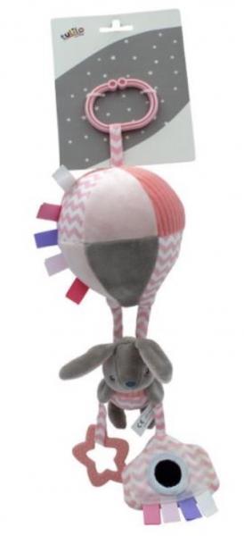 Tulilo Závesná plyšová hračka s rolničkou lietajúci balón - Králiček