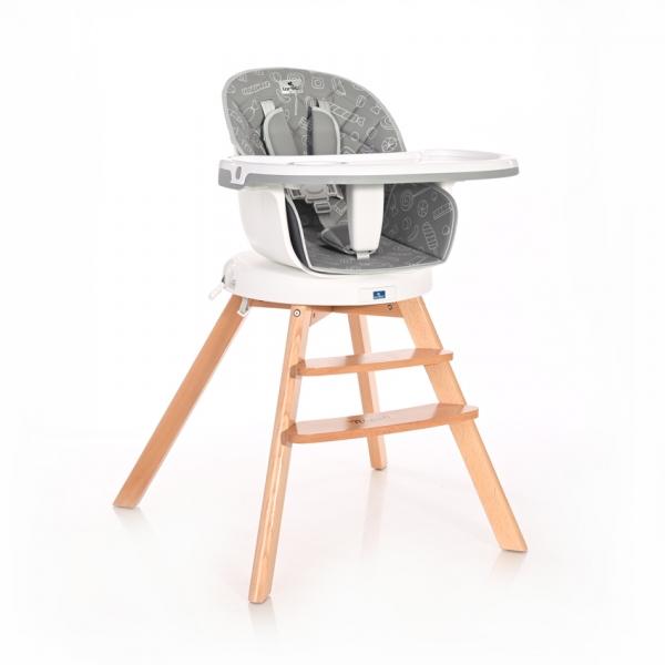 Jedálenská stolička Lorelli NAPOLI WITH ROTATION grey Candy