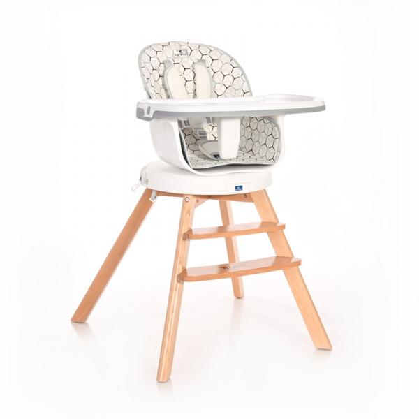 Jedálenská stolička Lorelli NAPOLI WITH ROTATION GREY HEXAGONS