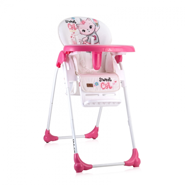 Jedálenská stolička Lorelli DULCE PINK CAT