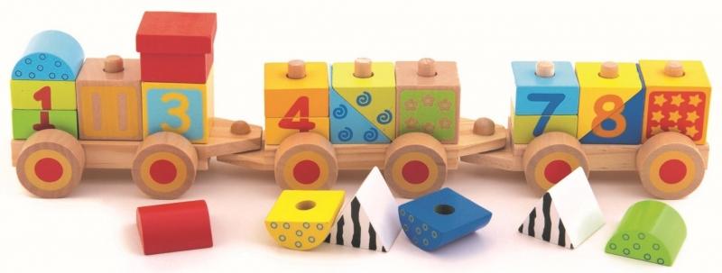 Trefl Drevený vláčik s číslami