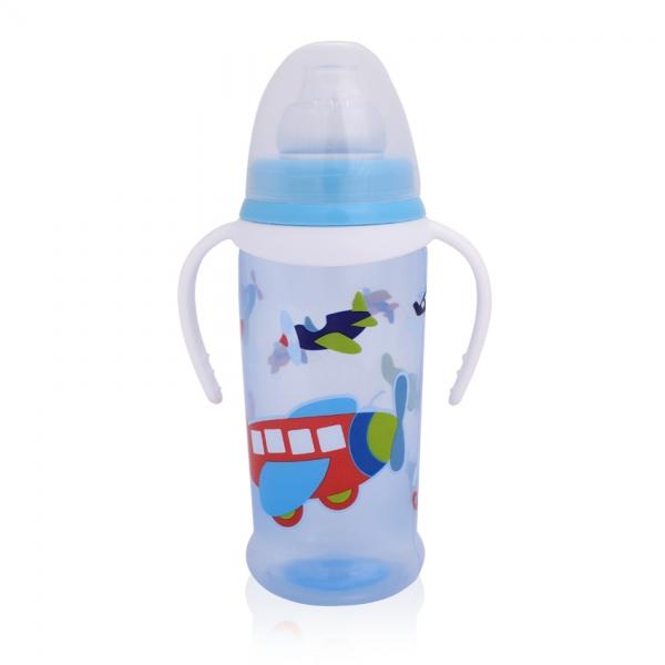 Hrnček Lorelli s mäkký náustkom a uškami 350 ml BLUE Airplanes