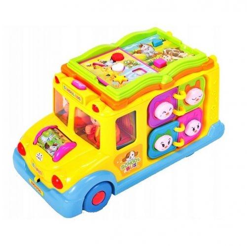 Tulimi Interaktívna hračka s melódiou a svetlom Školské Autobus, žltý
