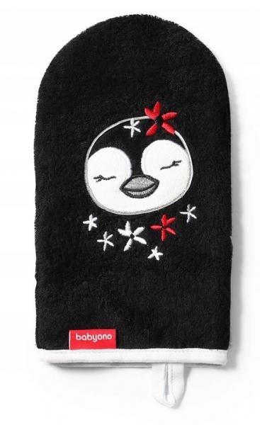 BabyOno Bambusová žinka Pinguin - čierna